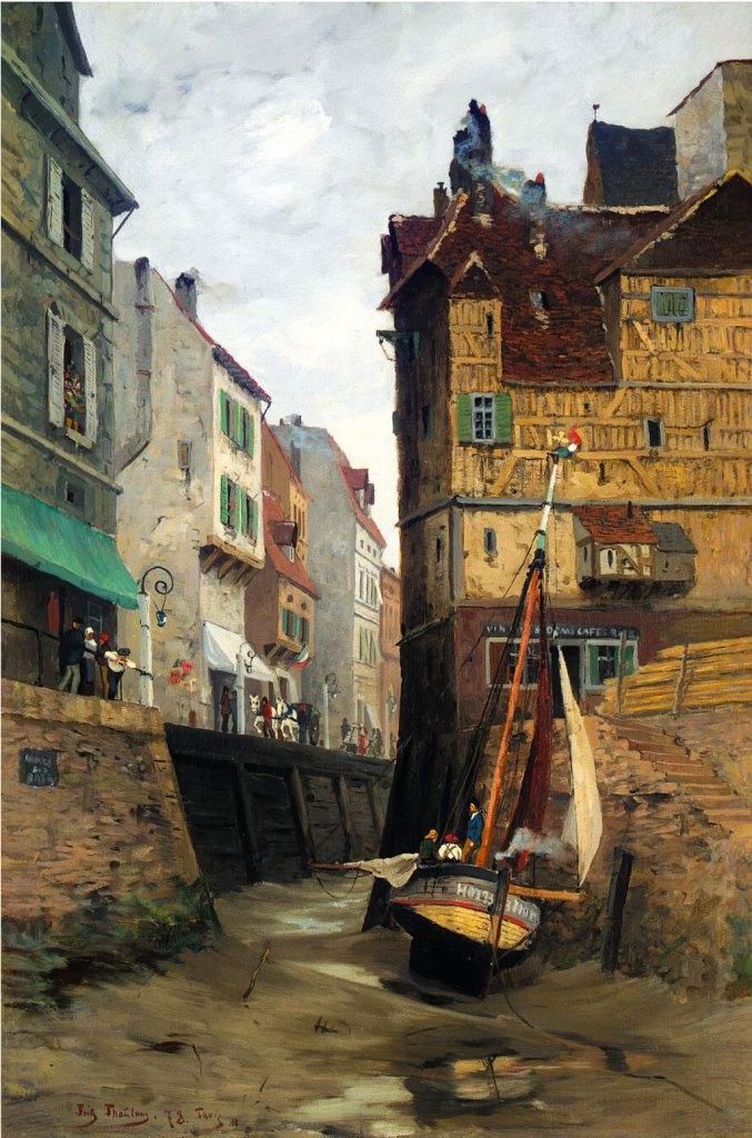 Fritz Thaulow 1878 - Low Tide, Le Havre