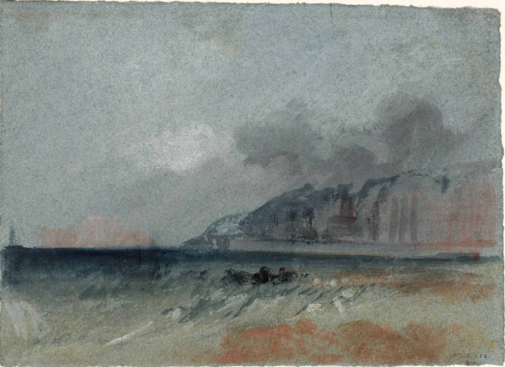 William Turner 1832 - A View Downstream towards Le Havre from near Quillebeuf