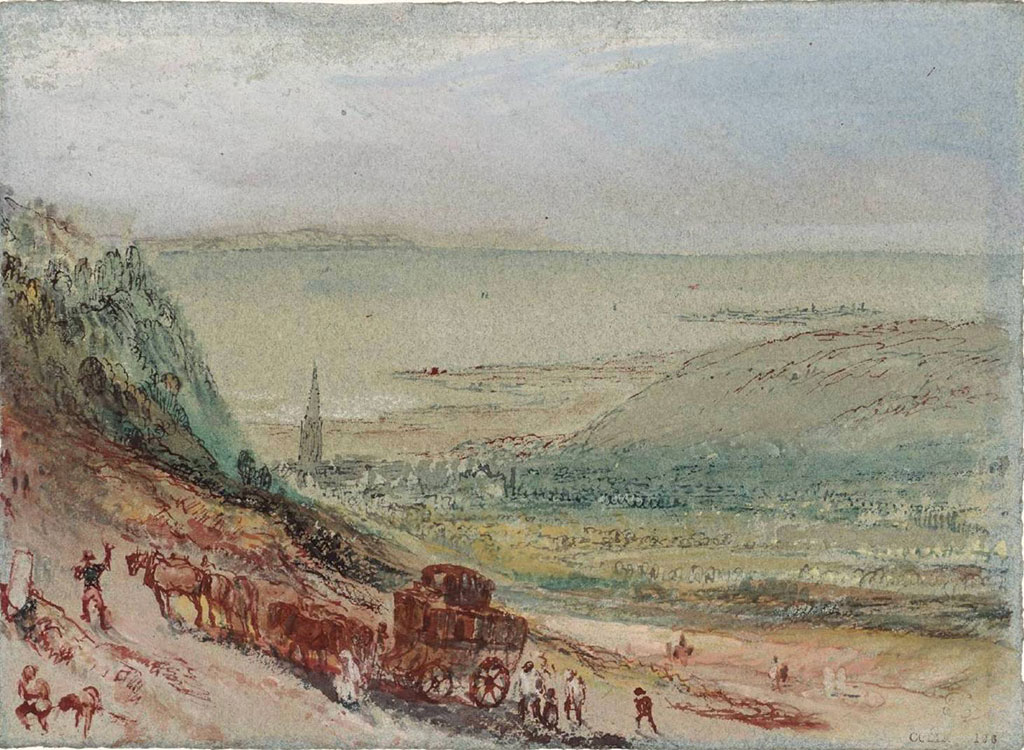 William Turner 1832 - A View of Harfleur from the Road to Lillebonne