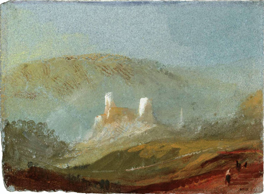 William Turner 1832 - Lillebonne, The Towers of the Chateau