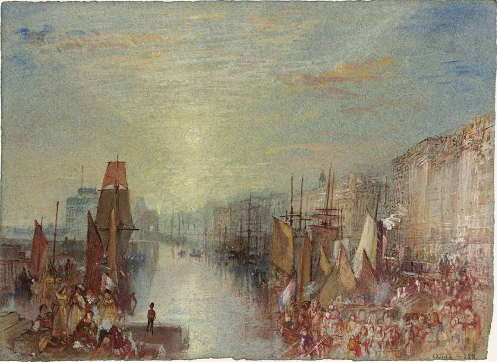 William Turner 1832 - Sunset in the Port