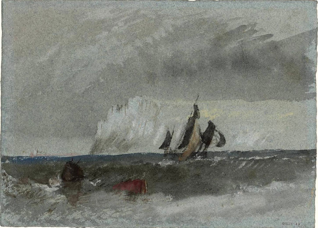 William Turner 1832 - The Cap de la Heve, with a Vessel Under Sail