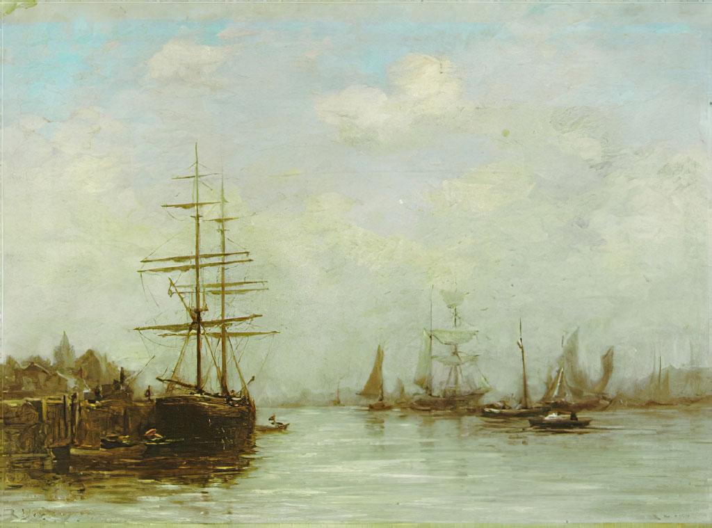 ???? Eugene Boudin - The Port of Caen