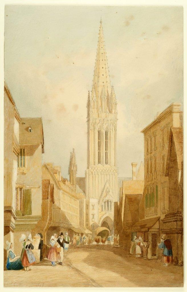 John Cotman 1818 - The Church of St-Pierre