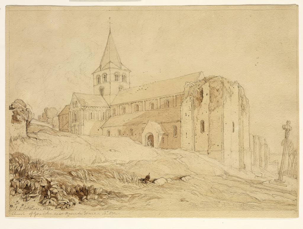1820 John Cotman - Church of Graville near Havre de Grace