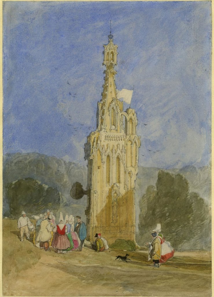1820 John Cotman - Tower of Lillebonne