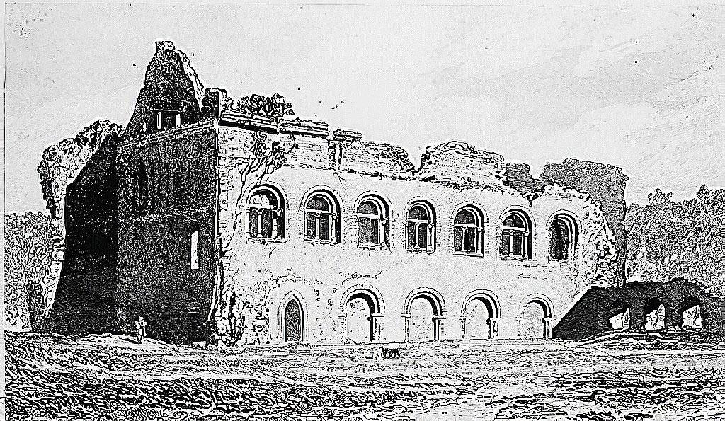 1822 John Cotman - Chateau de Lillebonne