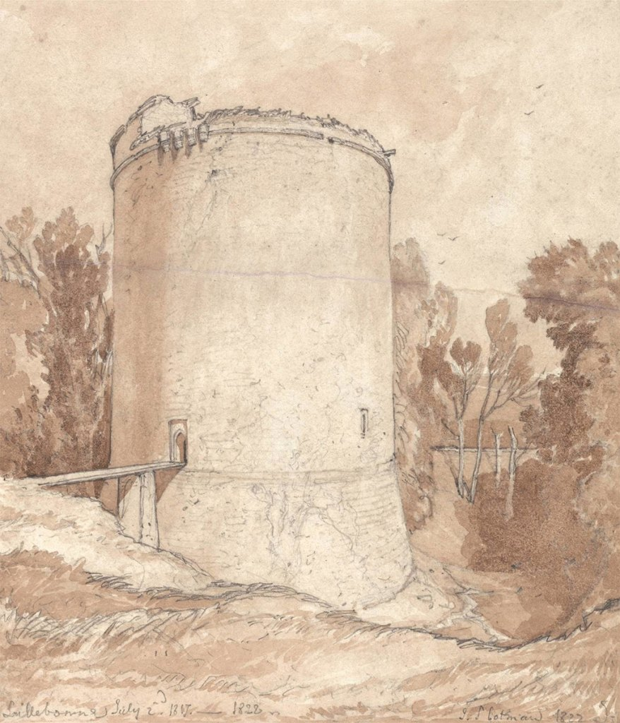 1822 John Cotman - Round Tower, Castle of Lillebonne, Normandy