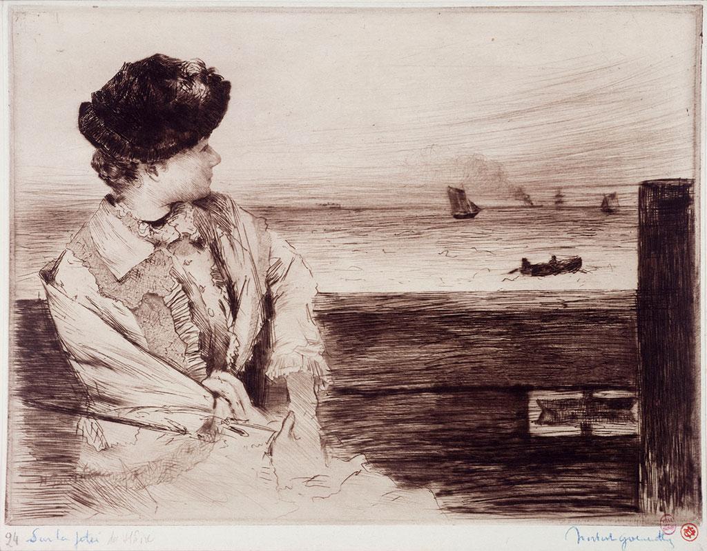1884 - Norbert Goeneutte - On the Jetty of Le Havre