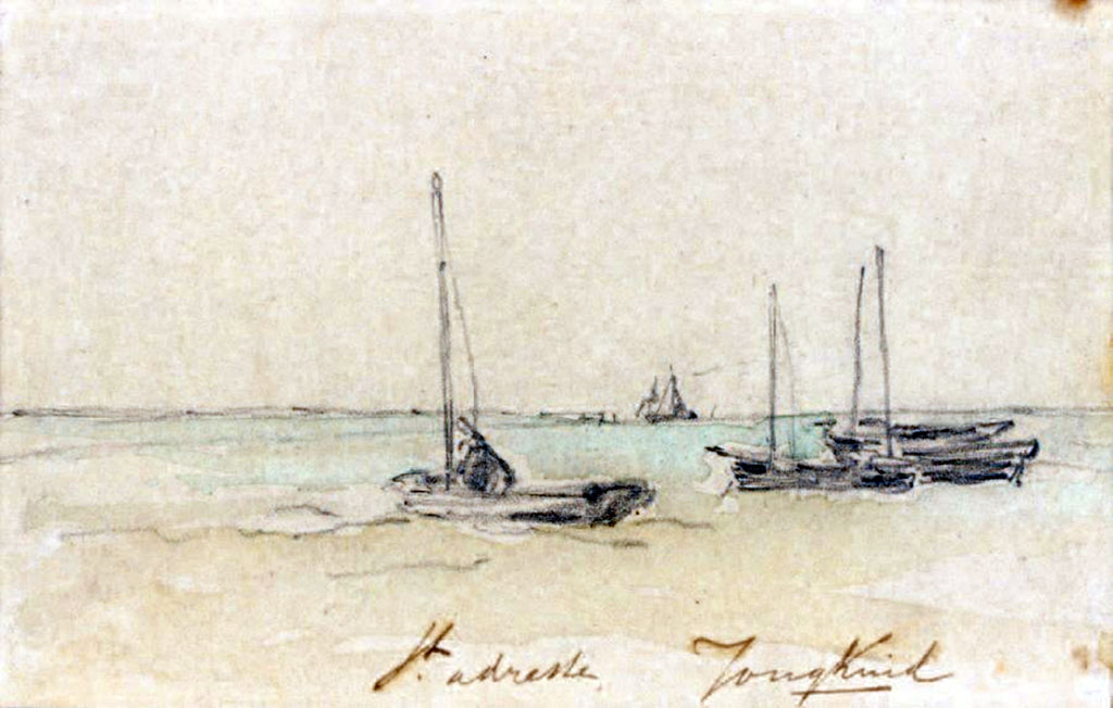 ???? - Johan Jongkind - Boats on the shore at Sainte-Adresse
