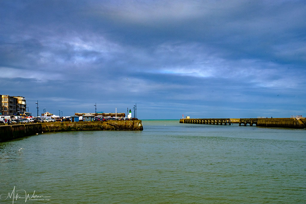 The Le Treport harbour entrance