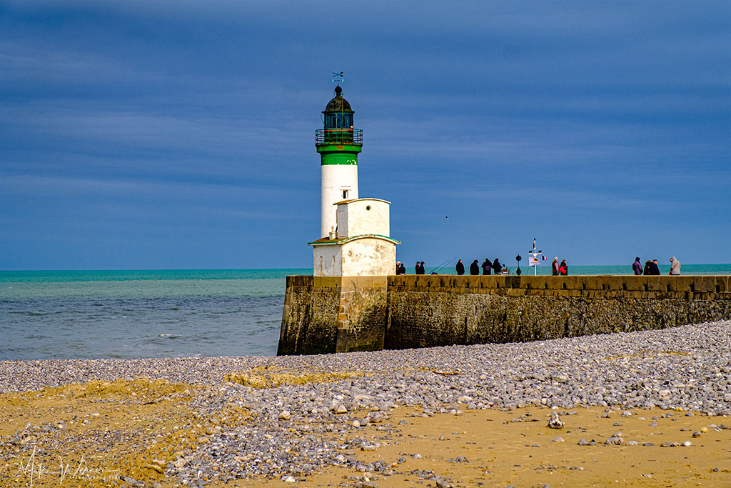 The lighthouse of Le Treport in Normandy