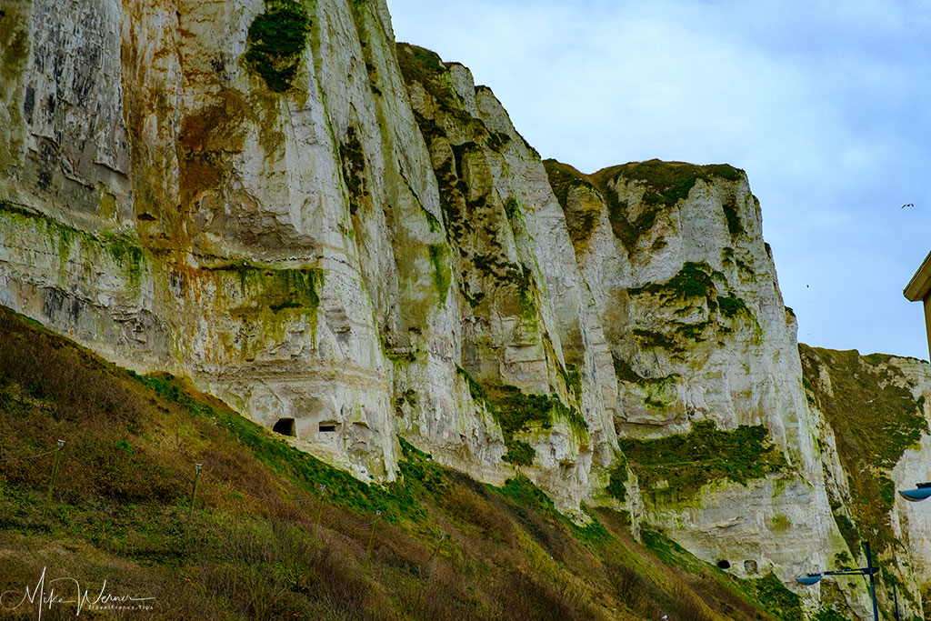 WWII bunkers in the cliffs of Le Treport