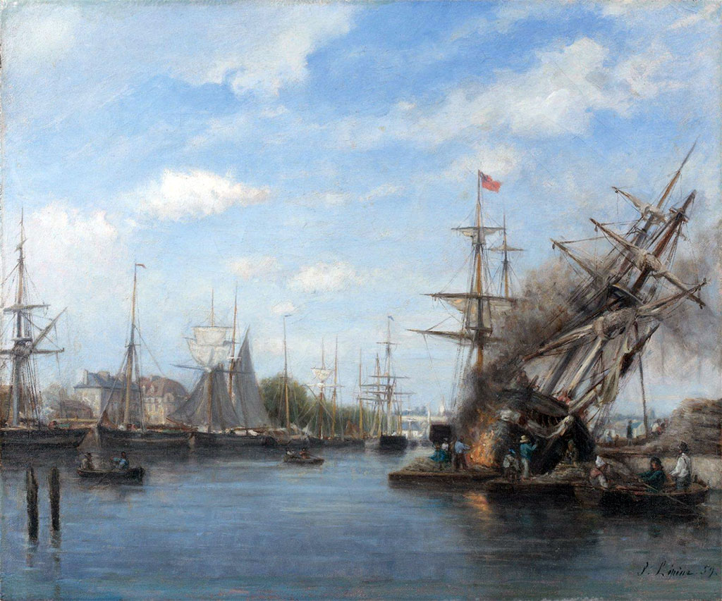 1858 - Stanislas Lepine  - Caen, start of the Saint-Pierre basin