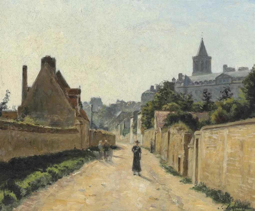 Lepine-1872- Caen. La Rue de Calix