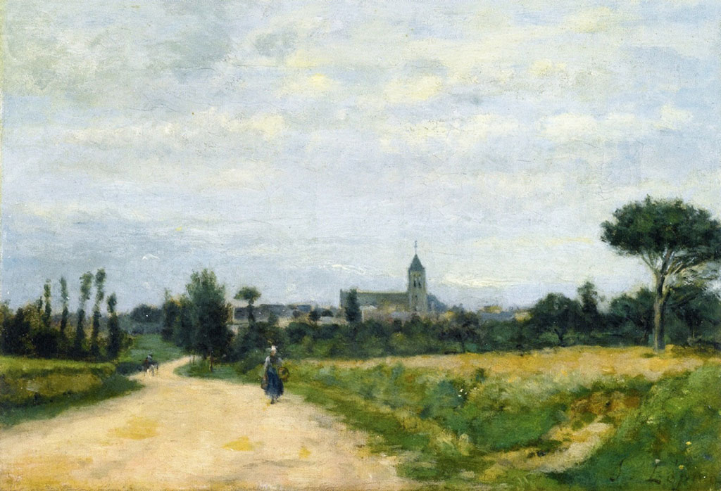 1875 Stanislas Lepine - The Village of Ouistreham