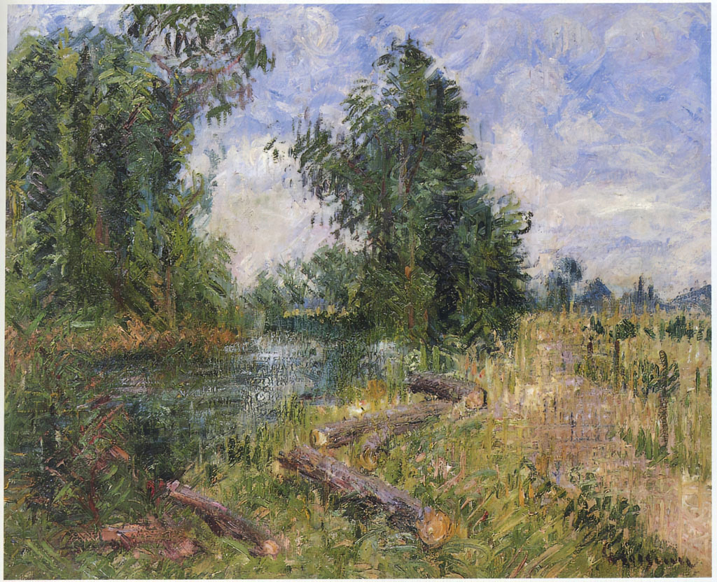 1928 Gustave Loiseau  - By the River, the Orne near Caen
