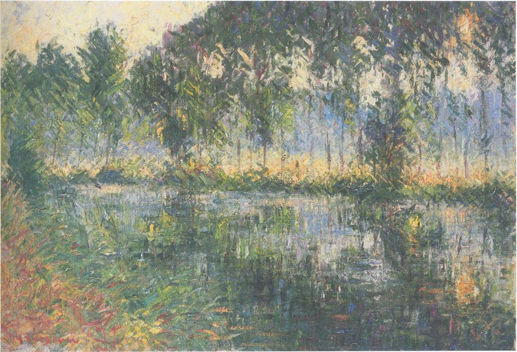 1928 Gustave Loiseau  - Orne River at Caen