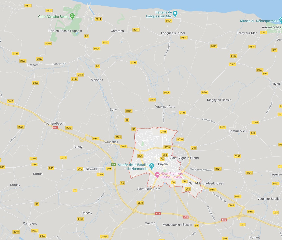 Bayeux – The Artists – Overview and Map