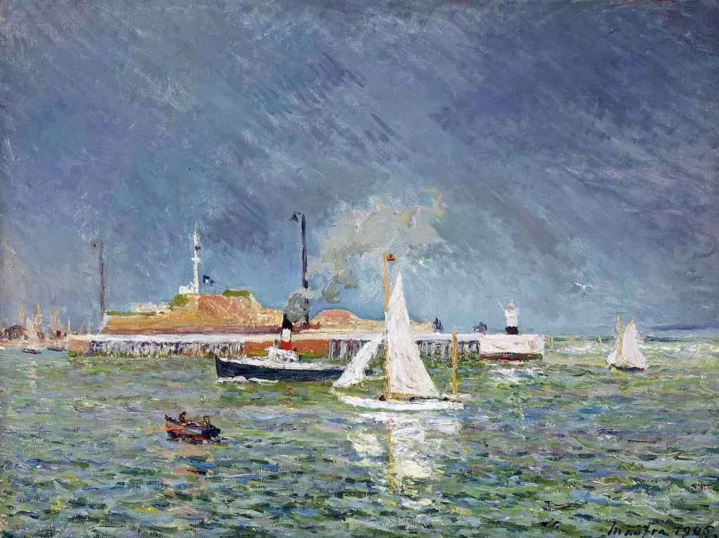 1905 - Maxime Maufra - The storm, entry of the boats, Le Havre