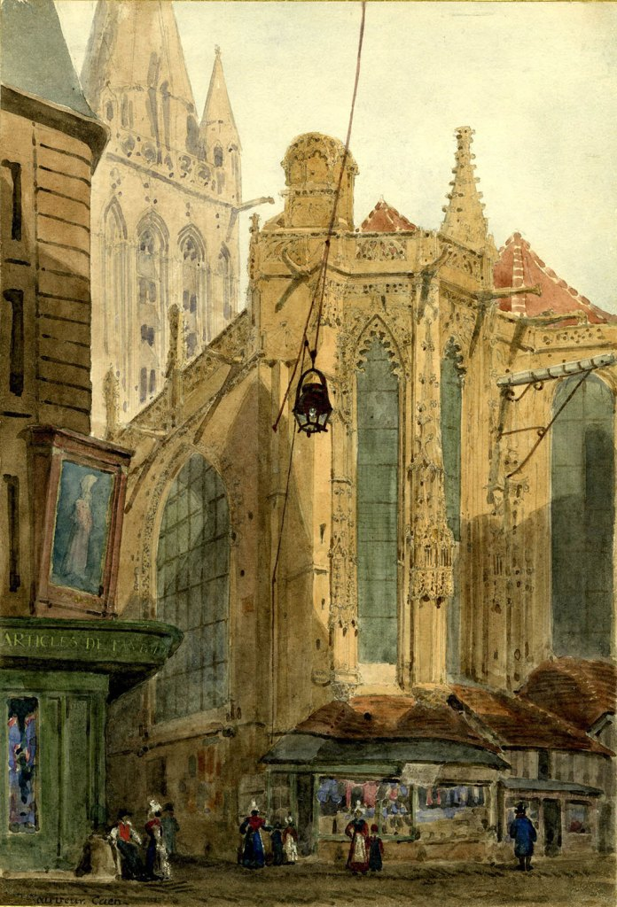 Ambrose Poynter 1830 - Church of Saint-Sauvieur in Caen