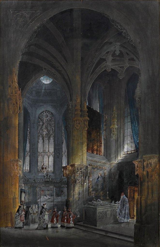 1846 - Samuel Prout - The Lady Chapel, St-Pierre, Caen