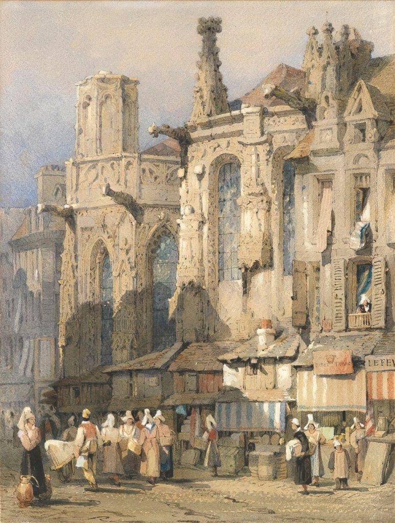 ???? Samuel Prout - The church of St-Sauveur, Caen