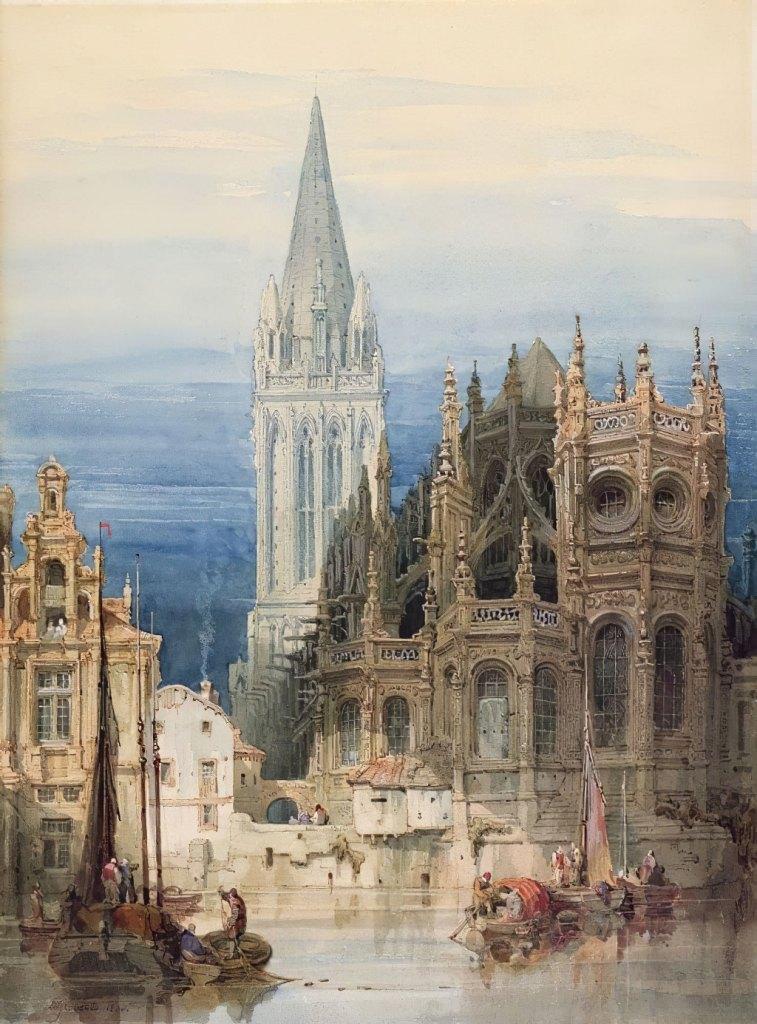 David Roberts 1830 - St-Pierre, Caen