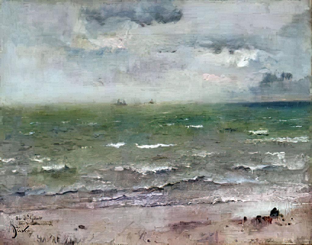 1884 - Alfred Stevens - Seascape, Le Havre