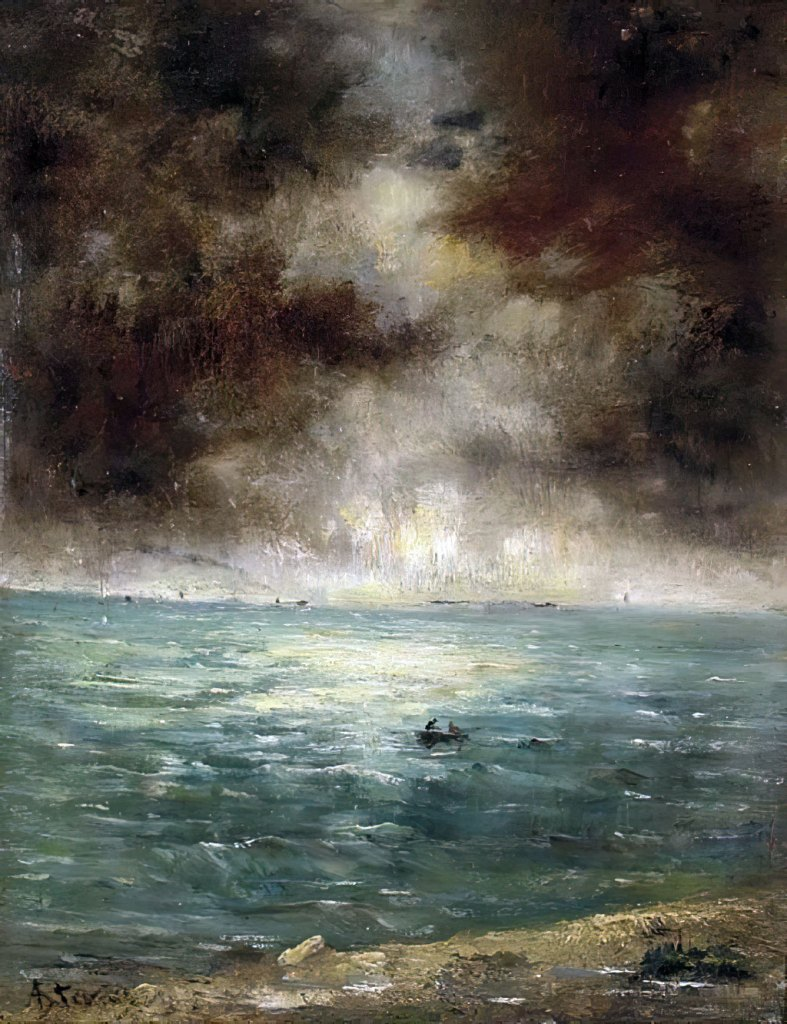 ???? - Alfred Stevens - Fishing off the coast of Le Havre