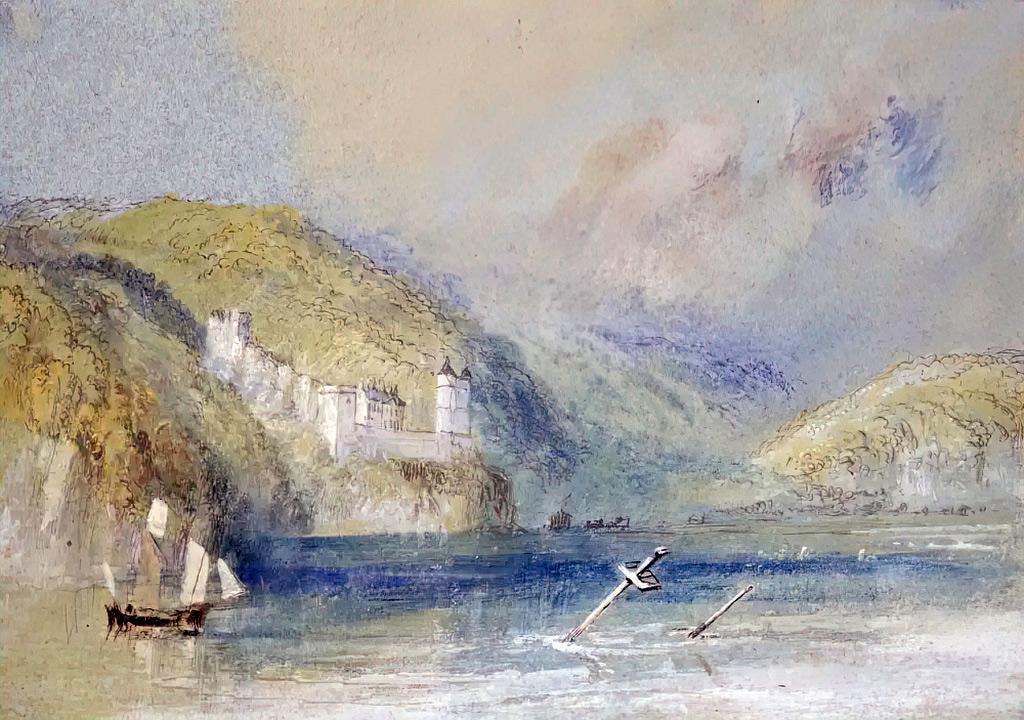 William Turner 1832 - The Seine near Tancarville