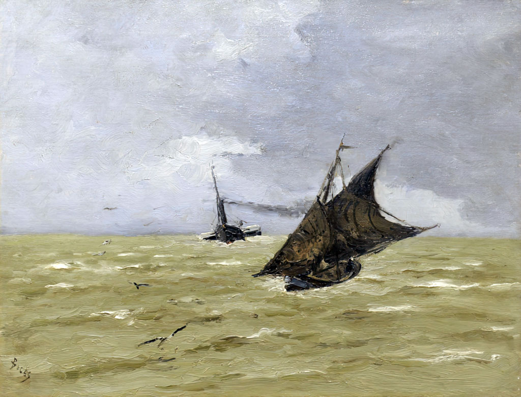 1880 Frank Boggs -The arrival of boats at Le Havre