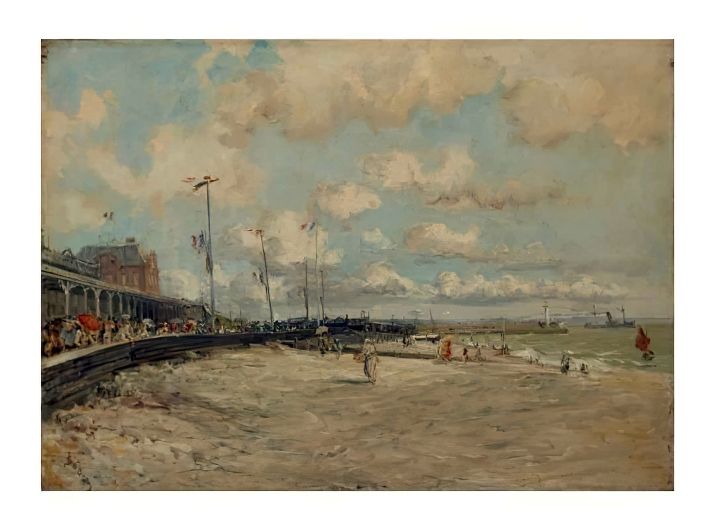 ???? Frank Boggs - View of the beach of Sainte Adresse