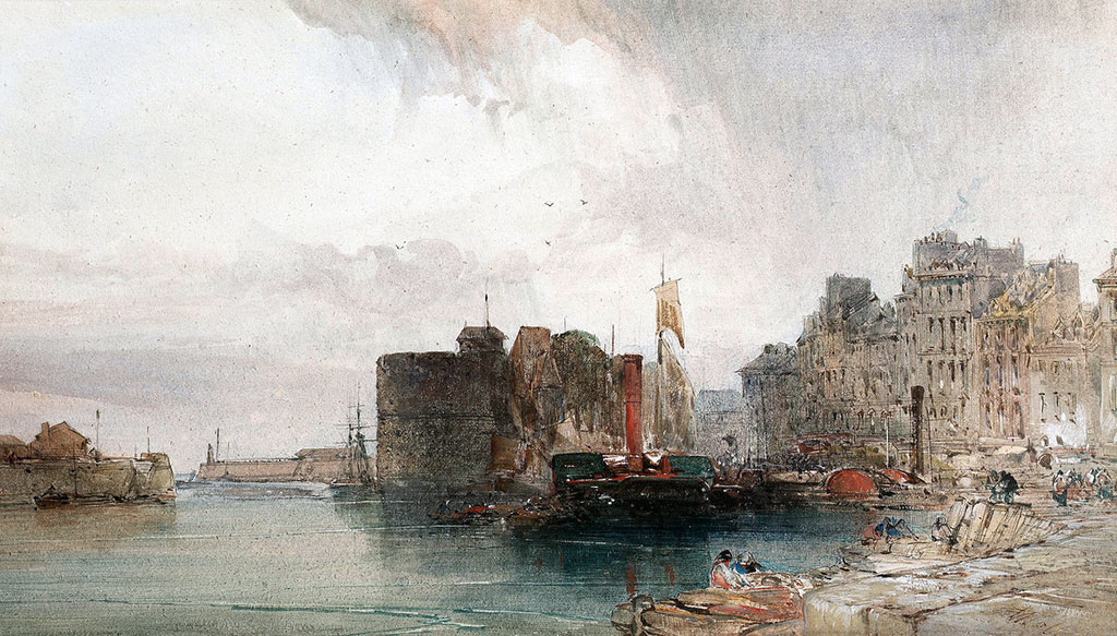 ???? William Callow - The harbour at Le Havre