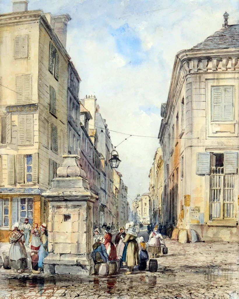 1861 Edward Cooke - On the Quai, Le Havre