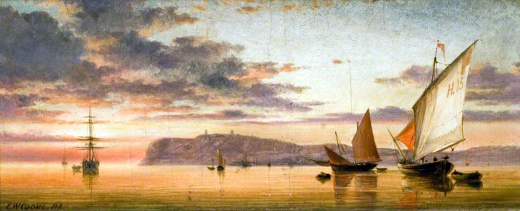???? Edward Cooke - Sunset at Le Havre