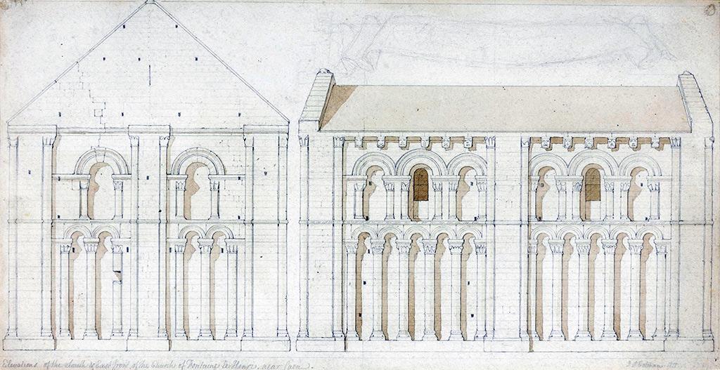 1818 - John Sell Cotman - Church of Fontaine-Le-Henri, Near Caen