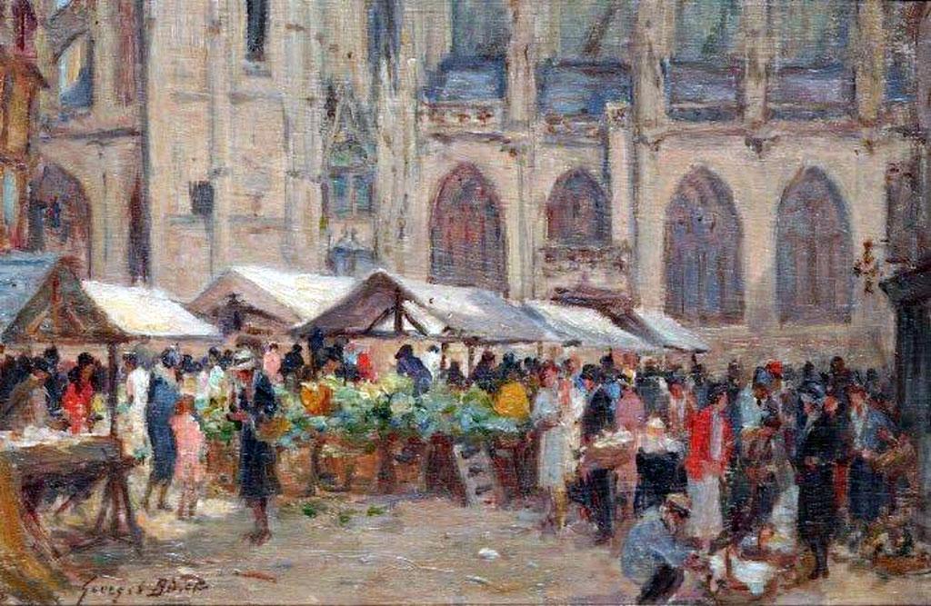 ???? - George Binet - Market at Caudebec