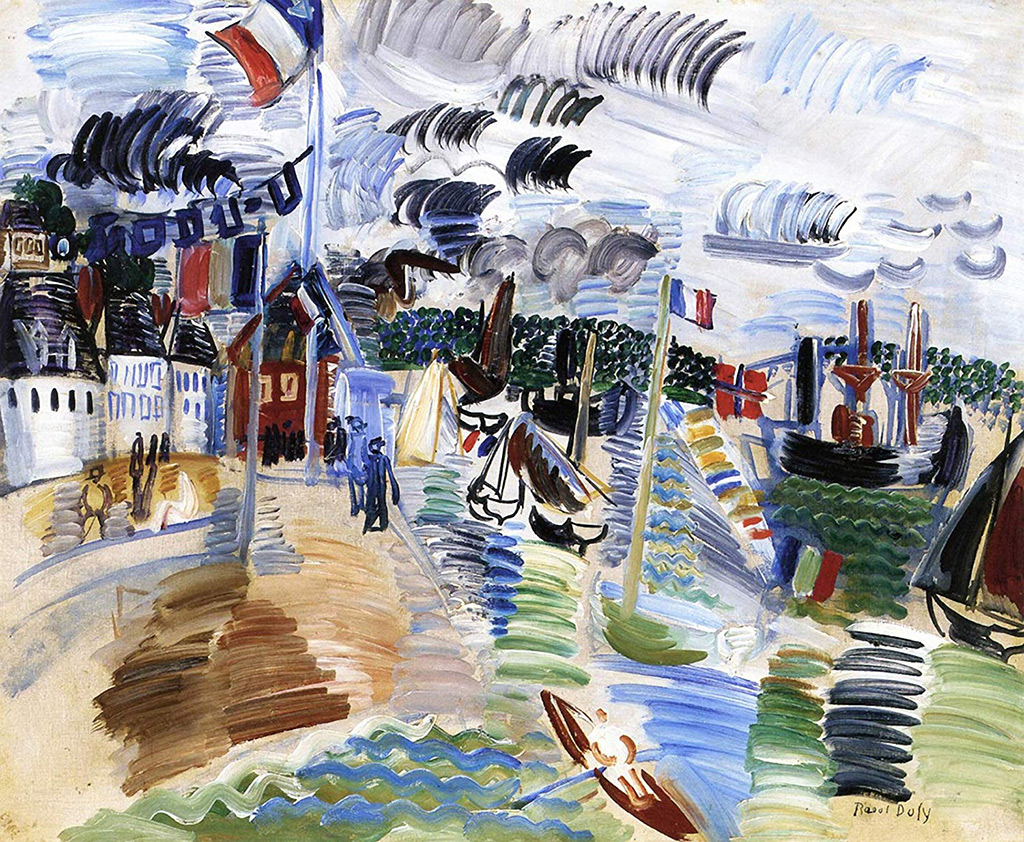 1910 - Raoul Dufy - Caudebec, the Port