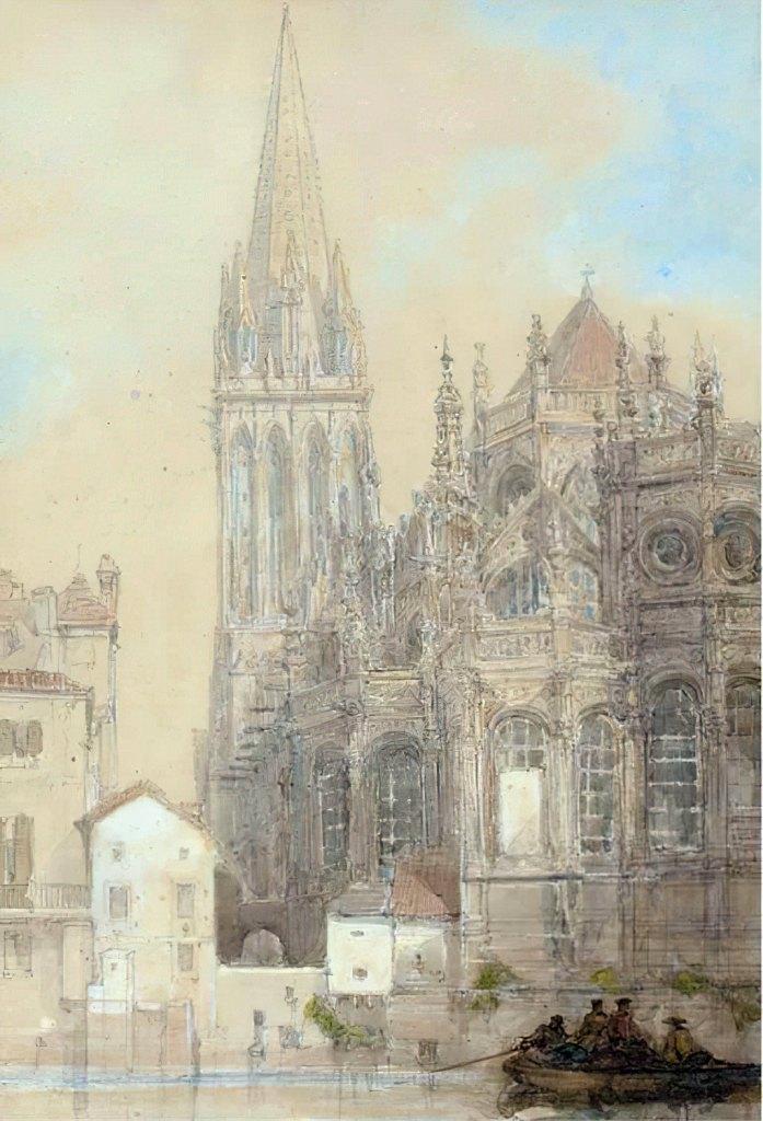 ???? - David Roberts    The Church of St.-Pierre, Caen