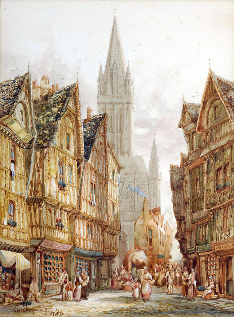 ???? - Henry Thomas Schafer - View of Caen