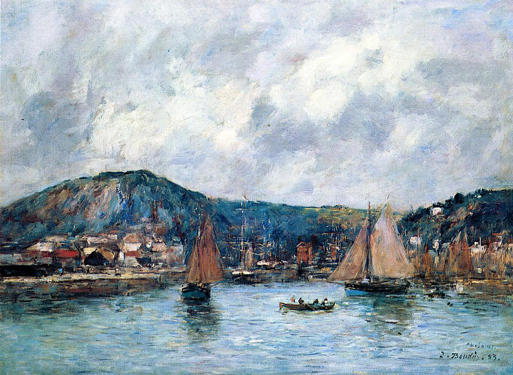 1883 - Eugene Louis Boudin - Cherbourg, the Port