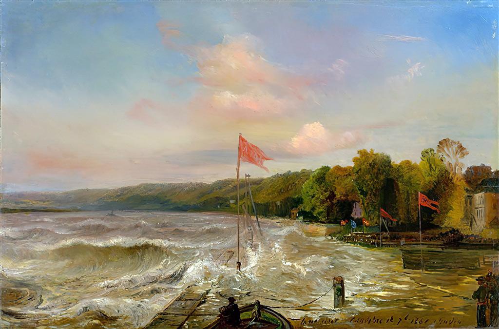 1861 - Theodore Gudin - Tidal Wave in Caudebec