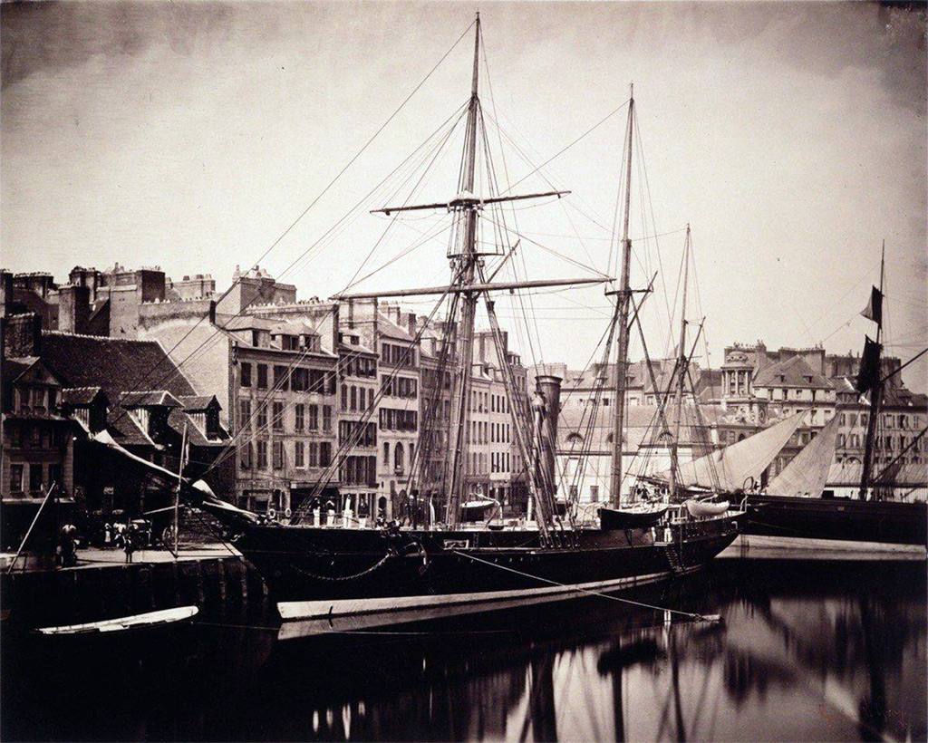 1856 - Gustave Le Gray - La Reine Hortense - Yacht of the Emperor Napoleon III, Le Havre, June 16, 1856