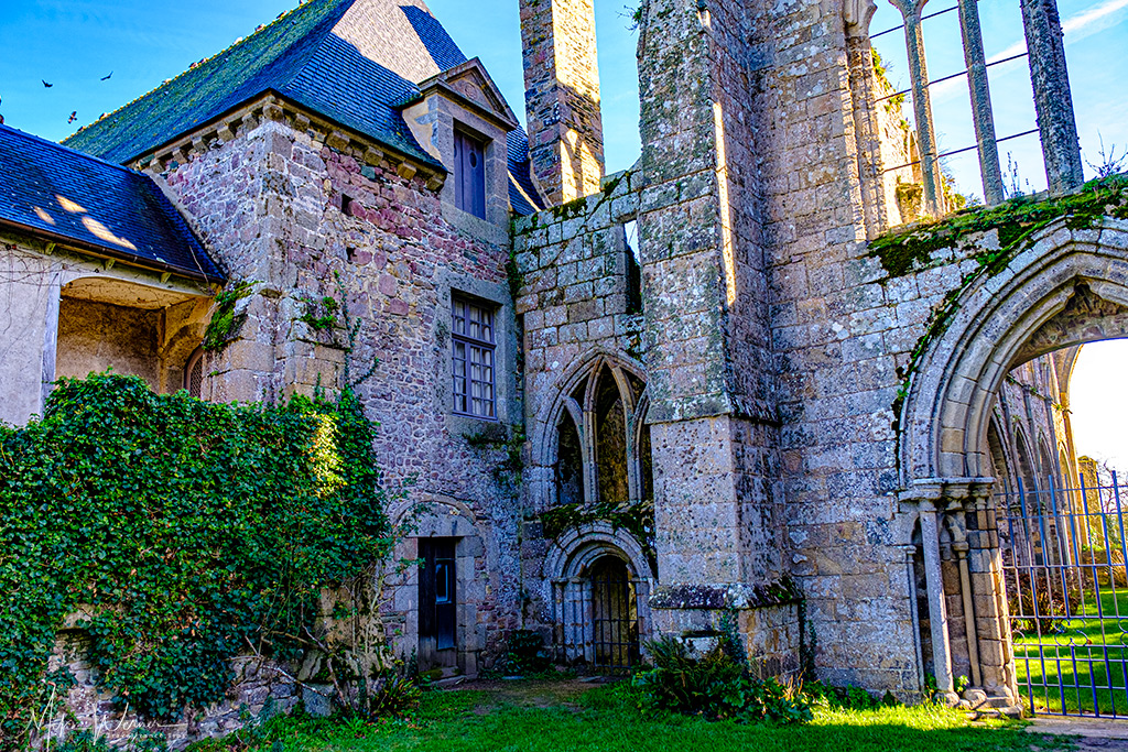 Main building of the Beauport Abbey in Paimpol, Brittany