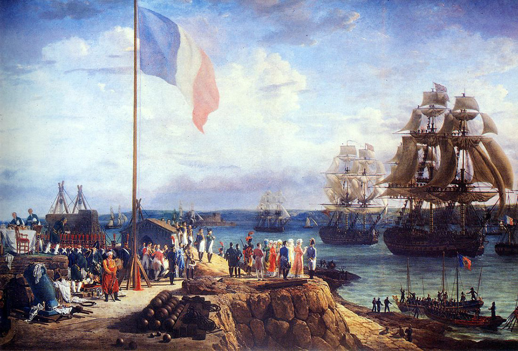 1811 - Louis Philippe Crepin - Napoleon and Marie-Louise Attending the Parade of the Squadron in Cherbourg, in 1811