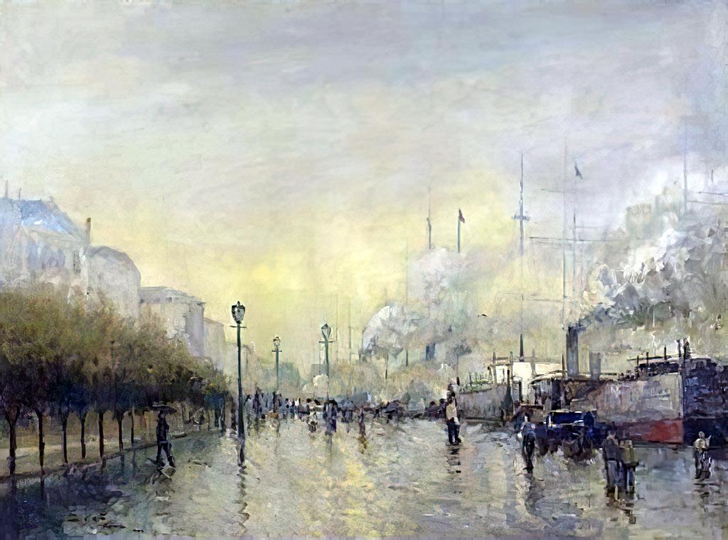 1904 - Siebe Johannes Ten Cate - On the docks, Le Havre