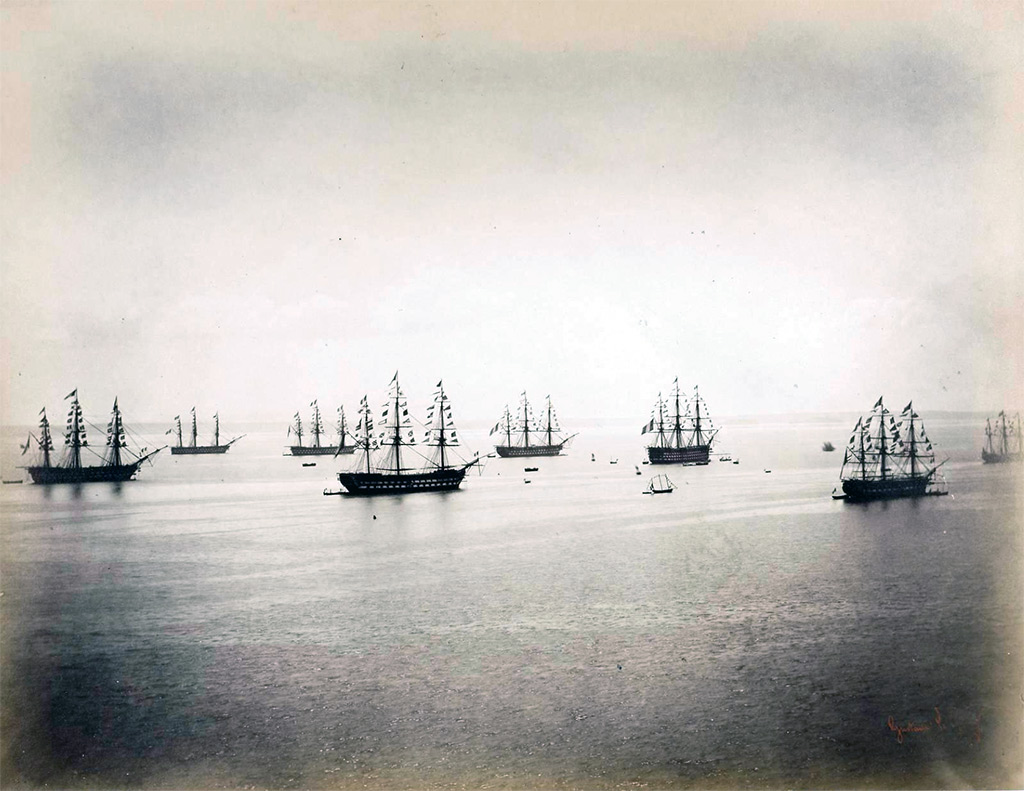 1858 - Le Gary - The French and English Fleets, Cherbourg, 4-8 August 1858