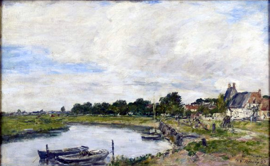 1897 - Eugene-Louis Boudin - The old port of the Touques