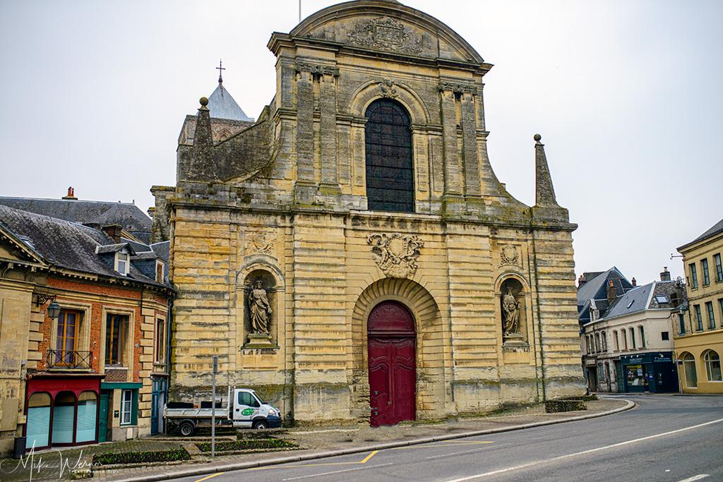 Trinity Abbey entrance in Fecamp
